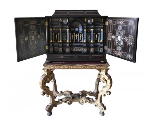 17th century Italian ebony cabinet