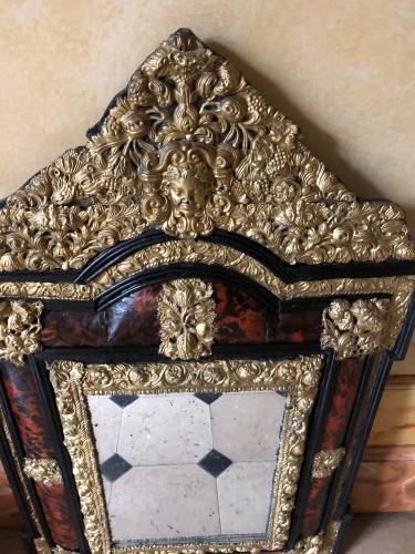 Mirrors, Trumeau  - Louis XIV tortoiseshell and brass mirror