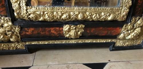 17th century - Louis XIV tortoiseshell and brass mirror