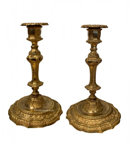 Pair of Louis XIV period candlesticks