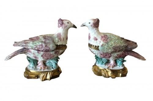 Pair of partridges forming pot-pourris, Louis XV period