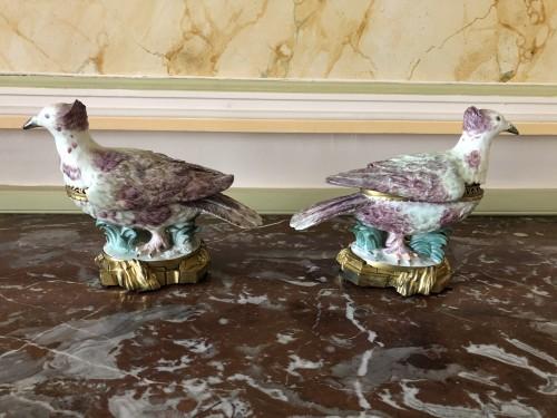 Decorative Objects  - Pair of partridges forming pot-pourris, Louis XV period
