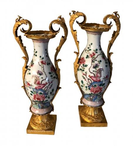 Pair of Louis XVI Period Vases