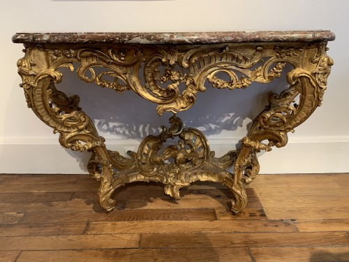 Louis XV console - Furniture Style Louis XV