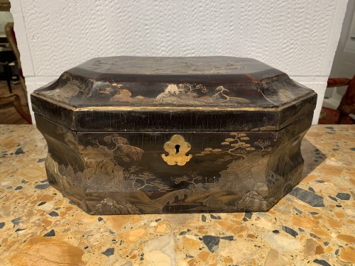 Louis XV wig box - Decorative Objects Style Louis XV