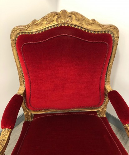 Seating  - Suite of four Regence period armchairs