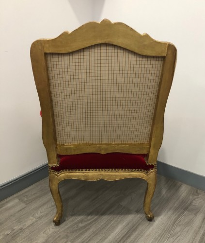 18th century - Suite of four Regence period armchairs