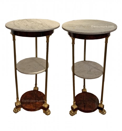 Pair of Empire period pedestal tables