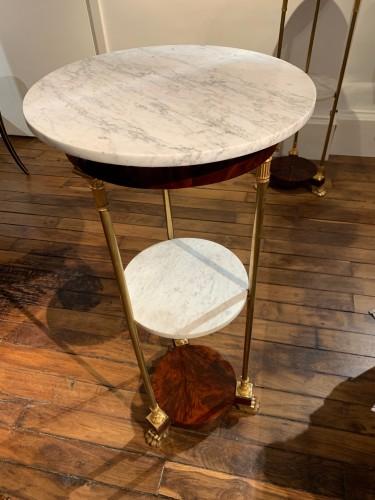 Furniture  - Pair of Empire period pedestal tables