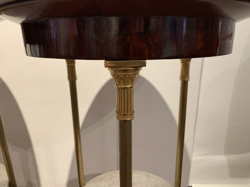 Pair of Empire period pedestal tables -