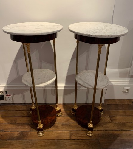 19th century - Pair of Empire period pedestal tables