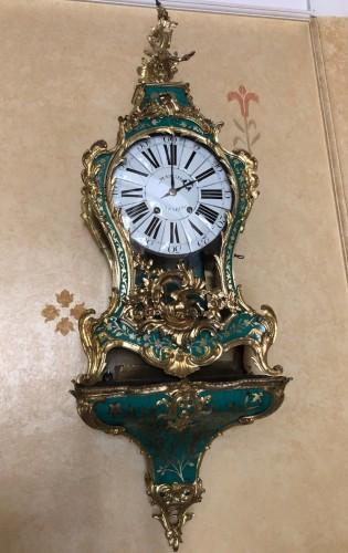 Antiquités - Louis XV period green horn applique cartel