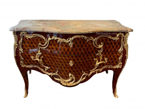 Louis XV commode stamped Pierre Roussel