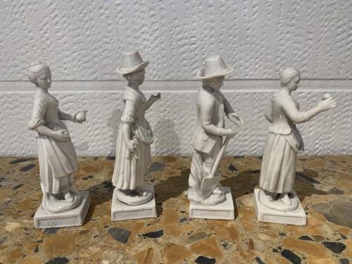 Porcelain & Faience  - Four porcelain statuettes Italy 1780
