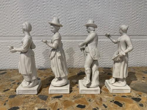 Four porcelain statuettes Italy 1780 -