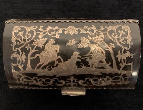 17th century - Louis XIV tortoiseshell and pewter box