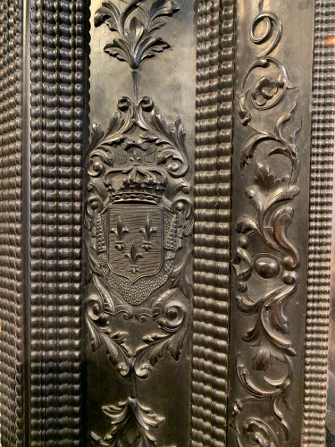 Louis XIII Ebony Mirror - Mirrors, Trumeau Style