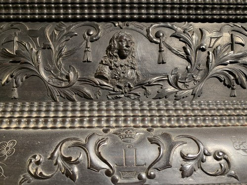 Mirrors, Trumeau  - Louis XIII Ebony Mirror
