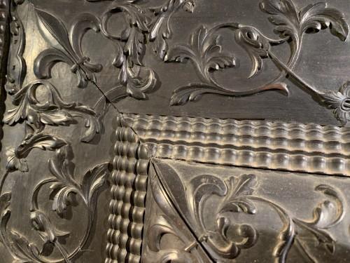 19th century - Louis XIII Ebony Mirror