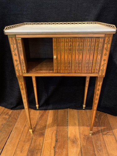 Small table attributed to RVLC, Louis XVI period - Furniture Style Louis XVI