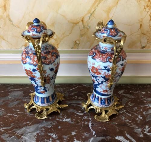 A pair of Imari covered vases - Louis XV