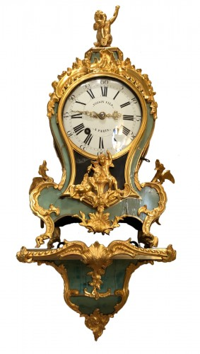 Louis XV period green cartel with chimeras