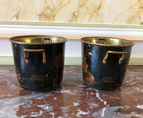 Pair of Regency period coolers - Decorative Objects Style Louis XIV
