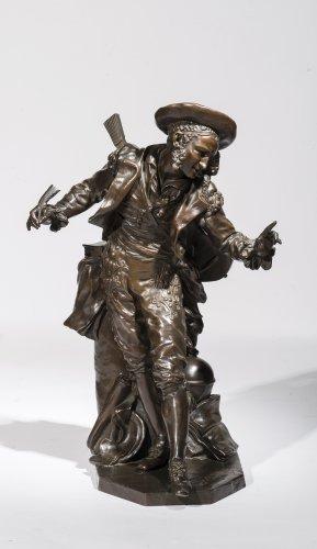 """Bronze figure """"Figaro"""" by Jean-Baptiste CARPEAUX (1827-1875)"""