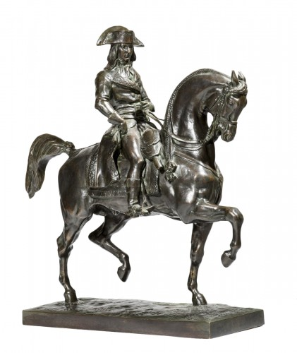 "Antoine-Louis BARYE (1795-1875) A Bronze figure ""General Bonaparte"""