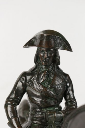 "Sculpture  - Antoine-Louis BARYE (1795-1875) A Bronze figure ""General Bonaparte"""
