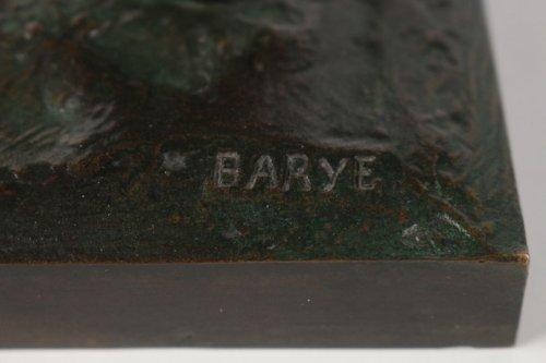 "19th century - Antoine-Louis BARYE (1795-1875) A Bronze figure ""General Bonaparte"""