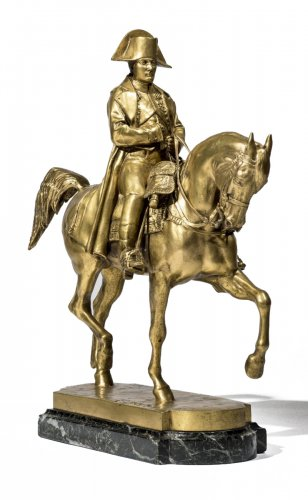 "Emmanuel FREMIET (1824-1910) a Bronze figure ""Napoleon on horseback"""