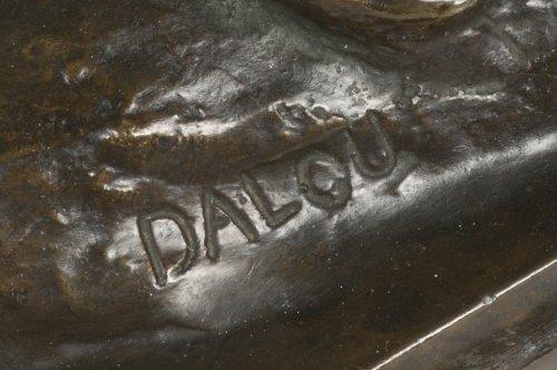 """Aimé-Jules DALOU ( 1838-1902) Bronze figure """"Le Miroir brisé"""" -"""
