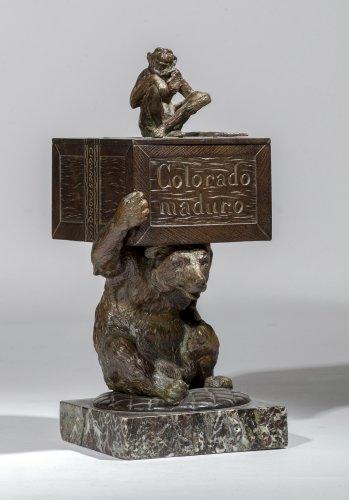 Christophe FRATIN (1801-1864) - bear and monkey, Cigar-case