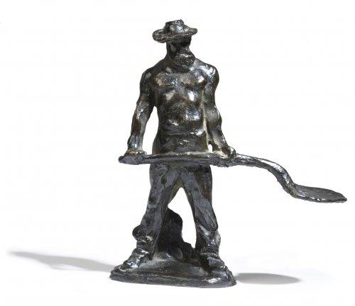 Aimé-Jules DALOU (1838-1902) - Man with shovel going to work