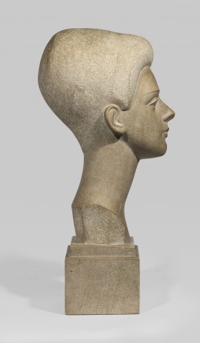 Lafaye Lucien (1896-1975), Young woman's head  - Sculpture Style