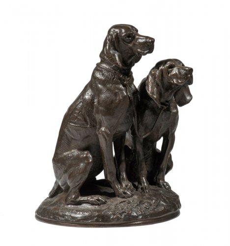 Emmanuel Frémiet (1824-1910) - Sitting dogs