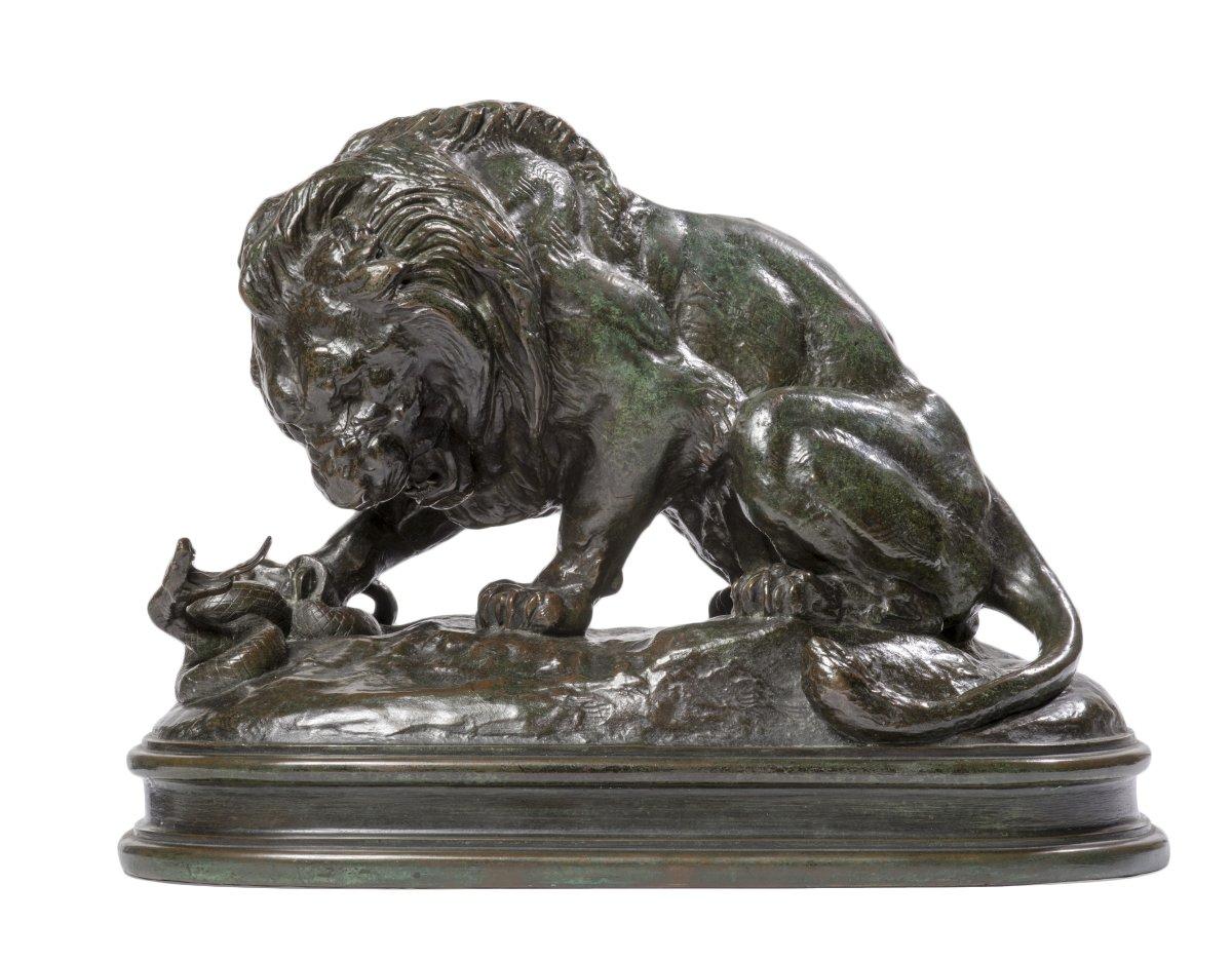 Antoine Louis Barye 1795 1875 Lion With Snake N1 1838