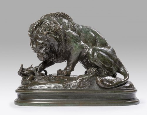 Sculpture  - Antoine-Louis Barye (1795-1875) - Lion with snake n1 (1838)