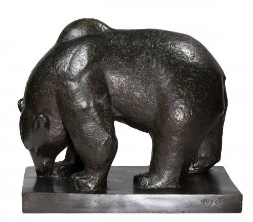 GUYOT Georges-Lucien (1885-1973) « Head down bear »