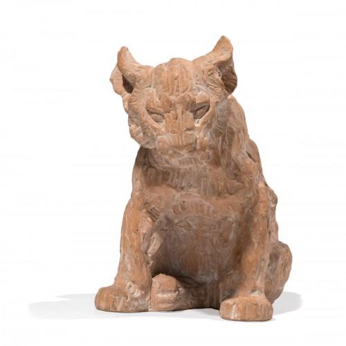 PIFFARD Jeanne (1892-1971) « Lion cub sitting »