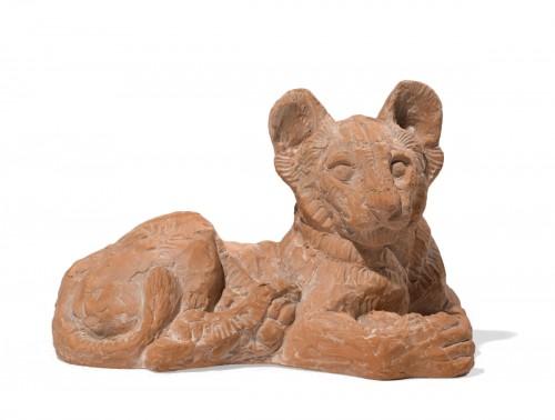 PIFFARD Jeanne (1892-1971) « Lion cub lying»