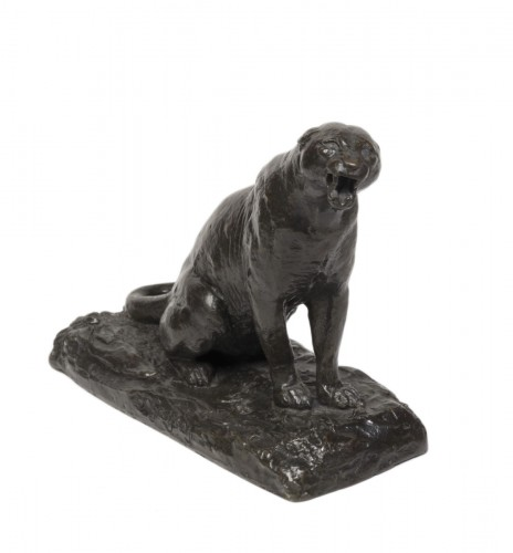 GEOFFROY Henri Jules Jean (1853-1924) - Roaring panther