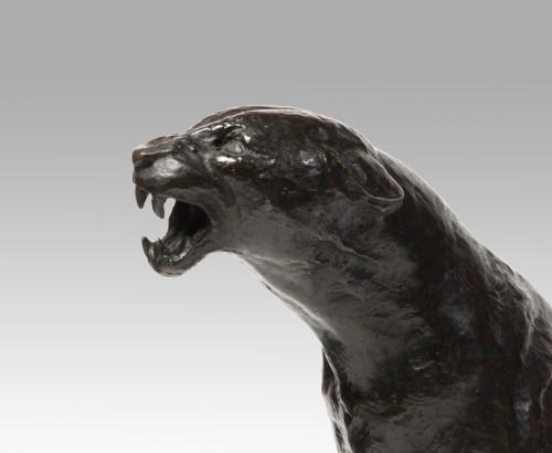 Sculpture  - GEOFFROY Henri Jules Jean (1853-1924) - Roaring panther