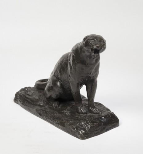 20th century - GEOFFROY Henri Jules Jean (1853-1924) - Roaring panther