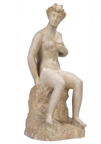 BELMONDO Paul (1898-1982) - Nude woman holding her left breast