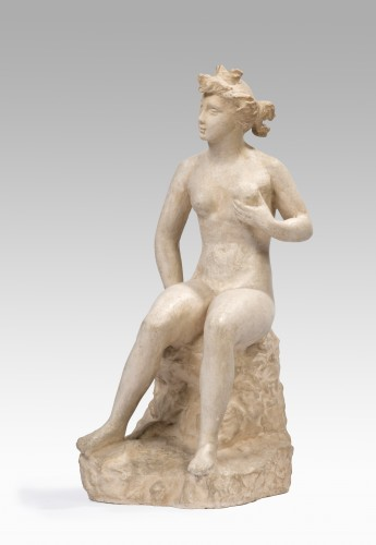 BELMONDO Paul (1898-1982) - Nude woman holding her left breast   - Sculpture Style