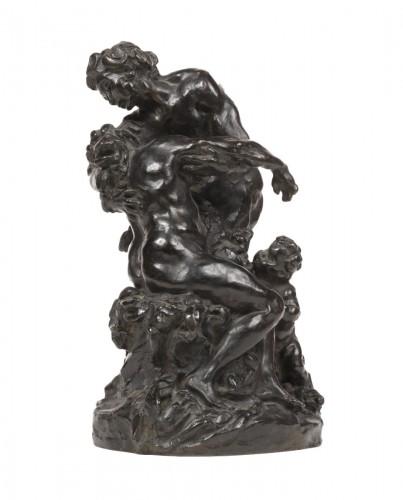 DALOU  Jules-Aimé (1838-1902) - Bacchus comforting Ariane