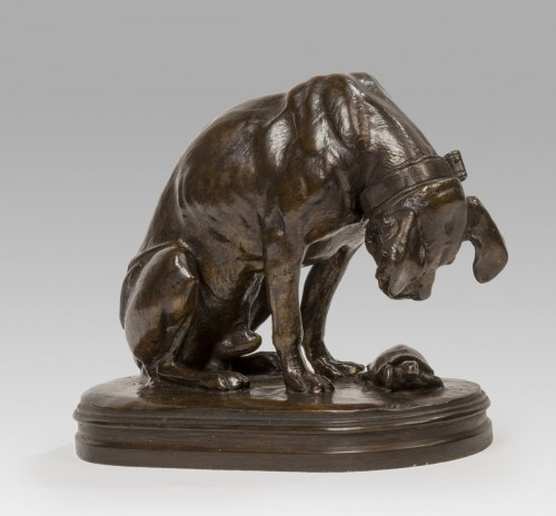 JACQUEMART Henri Alfred (1824-1896) - Dog with turtle        -