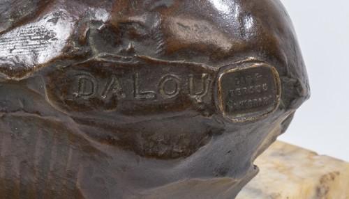 DALOU Jules (1838-1902) - Buste de bébé endormi - Sculpture Style